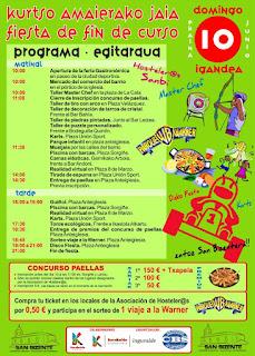 Cartel de la fiesta de los hosteleros de San VIcente