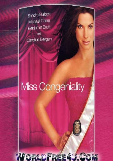 Poster Of Miss Congeniality (2000) In Hindi English Dual Audio 300MB Compressed Small Size Pc Movie Free Download Only At worldfree4u.com