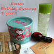 Korean Birthday Giveaway 1 year 22.09-02.10