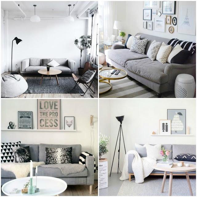 Preto, branco e cinza na decoração