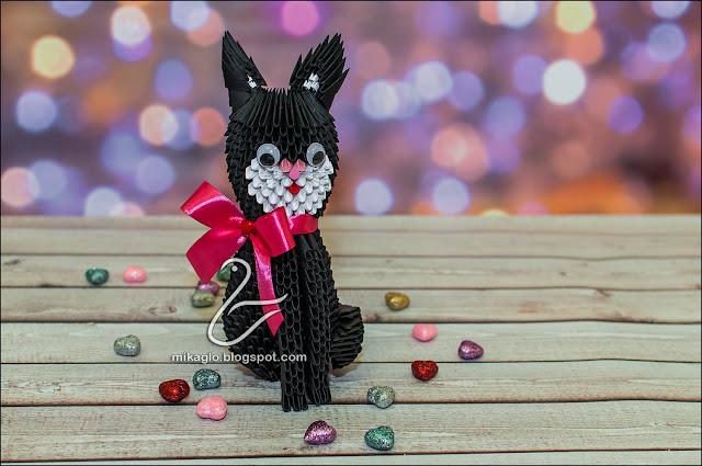 657. Kot z origami / 3d origami cat