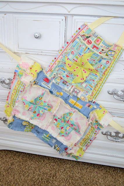 How to Make a Girls Apron Free Pattern by A Vision to Remember