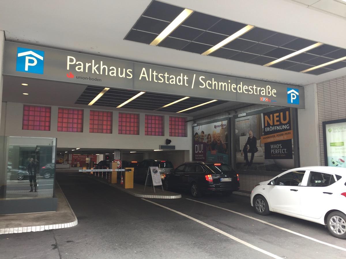 Parkgebühren Ernst August Galerie