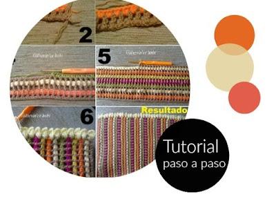 Tutorial punto rayas de crochet