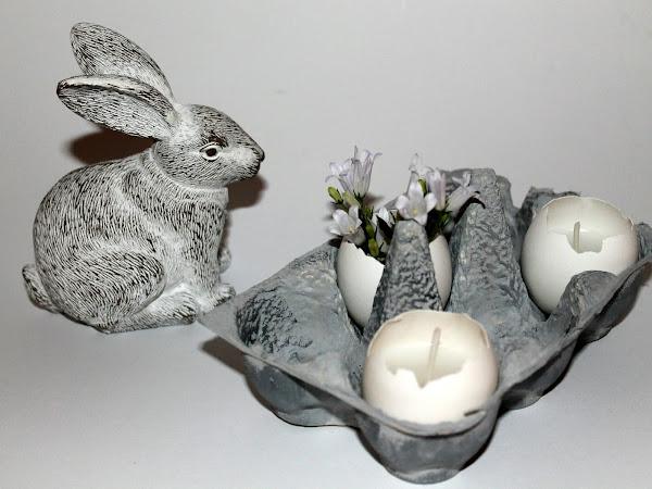 DIY Kerzeneier in Betonoptik Karton