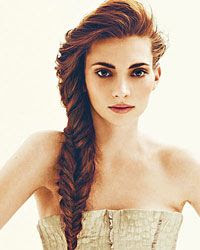 Fishtail braid with volume