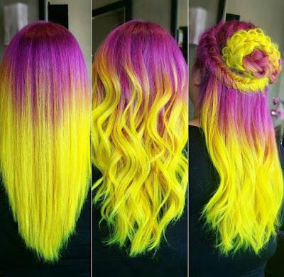 peinado con trenzas cabello suelto tinturado