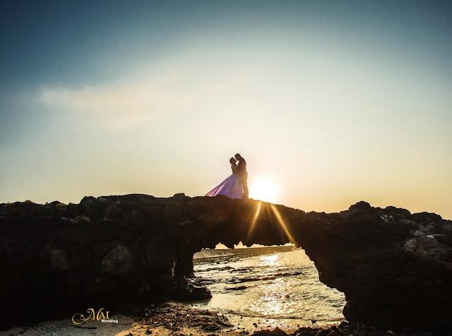 Ánh hoàng hôn đẹp mê hồn trên đảo Lý Sơn qua ống kính