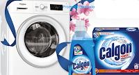 Logo ''Lavatrice pulita, bucato perfetto'': vinci Lavatrici Whirlpool o forniture di Calgon
