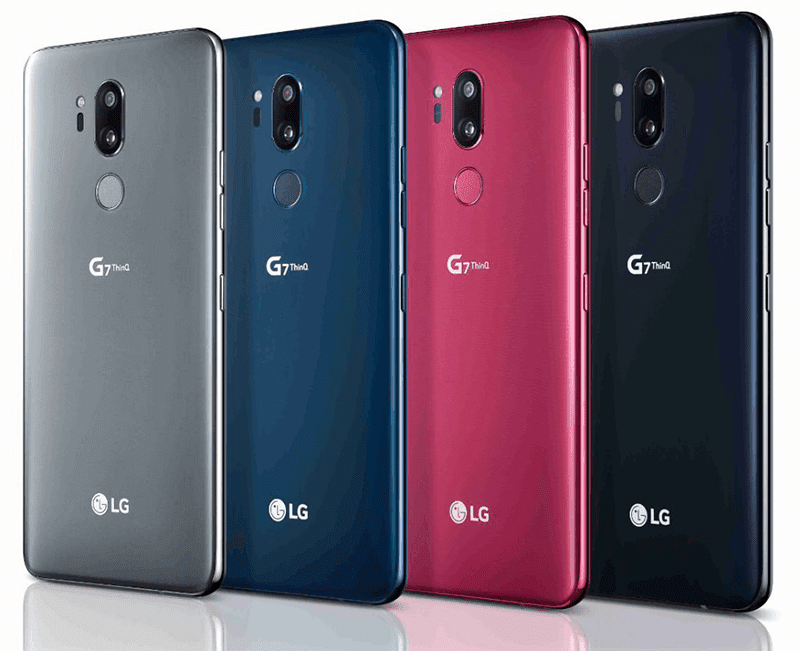 Different colors of LG G7 ThinQ