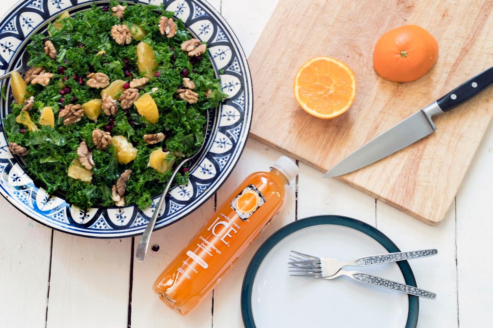 How To Make A Kale, Orange and Pomegranate Salad