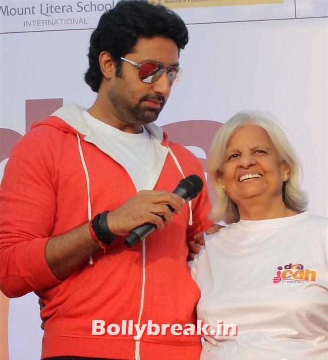 Abhishek Bachchan, Tara Sharma, Abhishek at 'DNA I Can Women Half Marathon 2014'