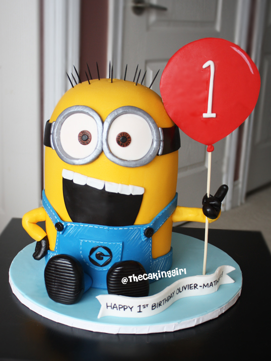 Despicable Me Minion Cupcake Cake
