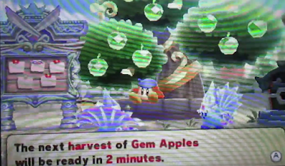 Team Kirby Clash Deluxe Nintendo 3DS Bandana Waddle Dee next harvest of Gem Apples