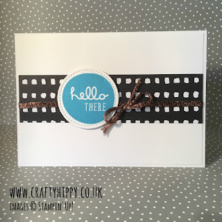 Learn how to use ribbon in masculine cards. This card features the Copper Trim from Stampin' Up!