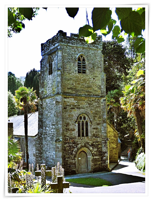 Church at St.Just in Roseland, Cornwall