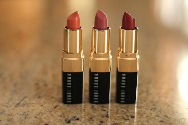 Fall lip favorites with Bobbi Brown lip trio
