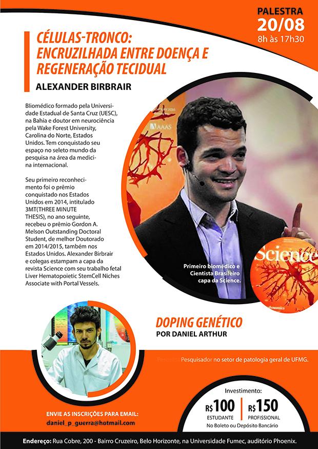Palestras sobre células-tronco e doping genético em Belo Horizonte