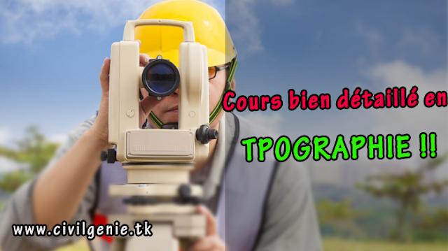 Cours topographie PDF et exercices corrigés