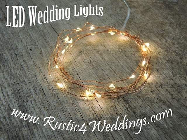 LED Fairy Lights- Battery Operated String Lights- Wedding Lights- Decorations For Rustic Table Settings- Church House Woodworks