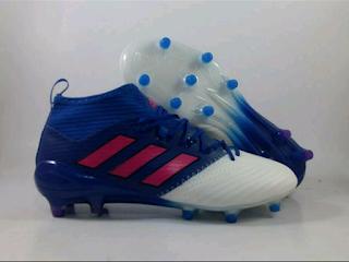 jual sepatu bola Adidas Ace 17.3 PrimeKnit FG - Blue White Pink
