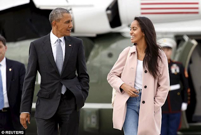 President Obama and her daughter Malia Obama attend Harvard University in 2017