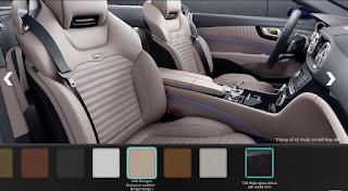 Nội thất Mercedes SL 400 2016 màu Xám Titanium / Vàng Ginger X34