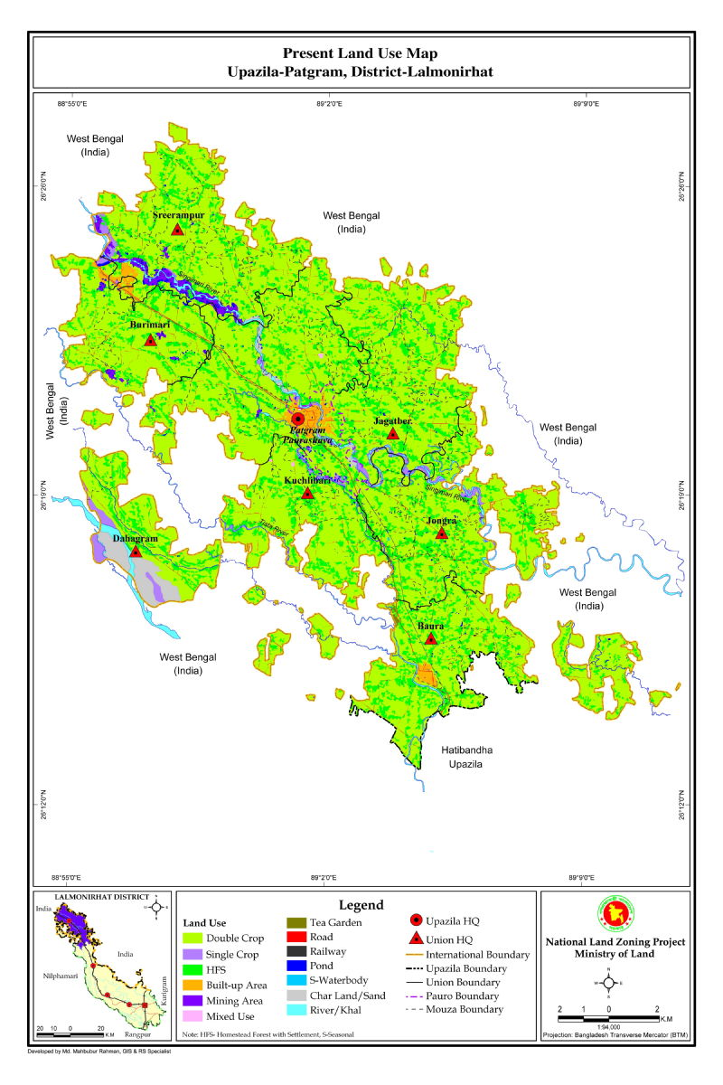 Patgram Upazila Mouza Map Lalmonirhat District Bangladesh