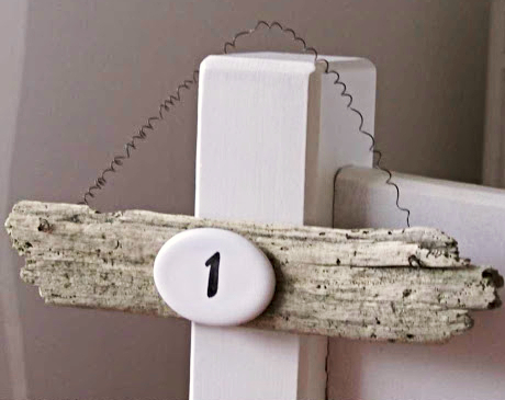 Driftwood House Number Sign