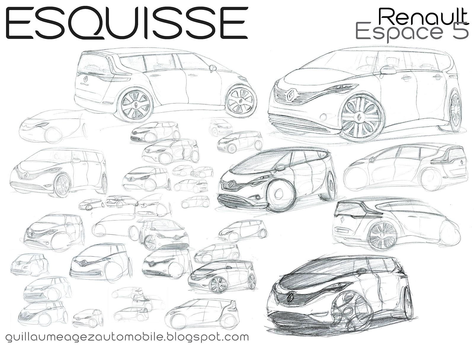 Guillaume AGEZ Automobile: Esquisse : Renault Espace 5