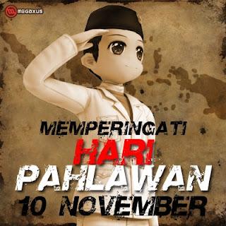 Gambar Kartun Hari Pahlawan 10 November DPB BBM Terbaru