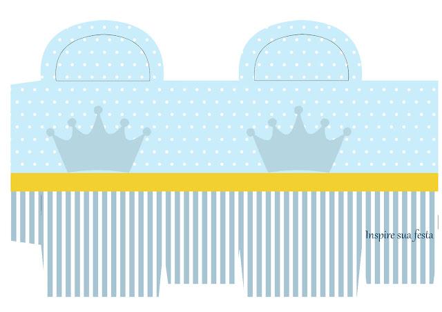 Caja para Imprimir Gratis de Corona Celeste.