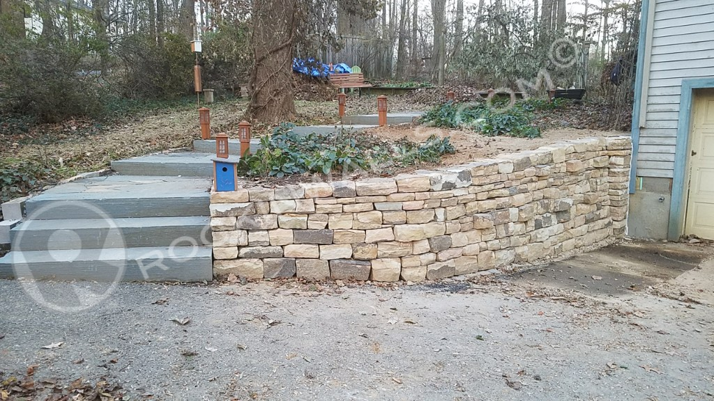 how to build a stone wall without mortar