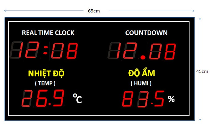 Đồng hồ đếm ngược ngày dự án - Ricons