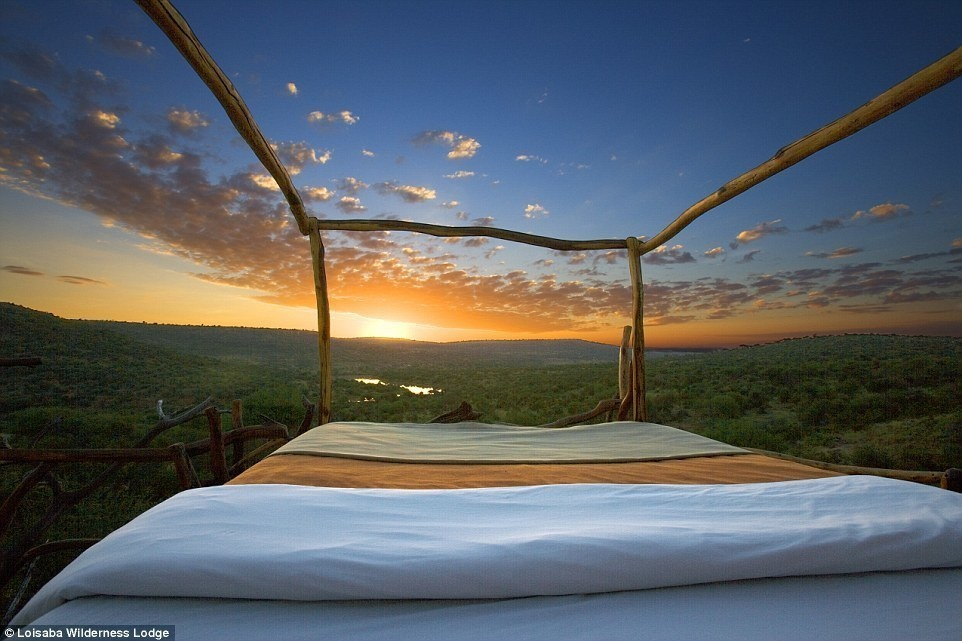 Loisaba Wilderness Lodge, Kenya - 15 Incredible Hotel Rooms Where You Can Sleep Under The Stars.