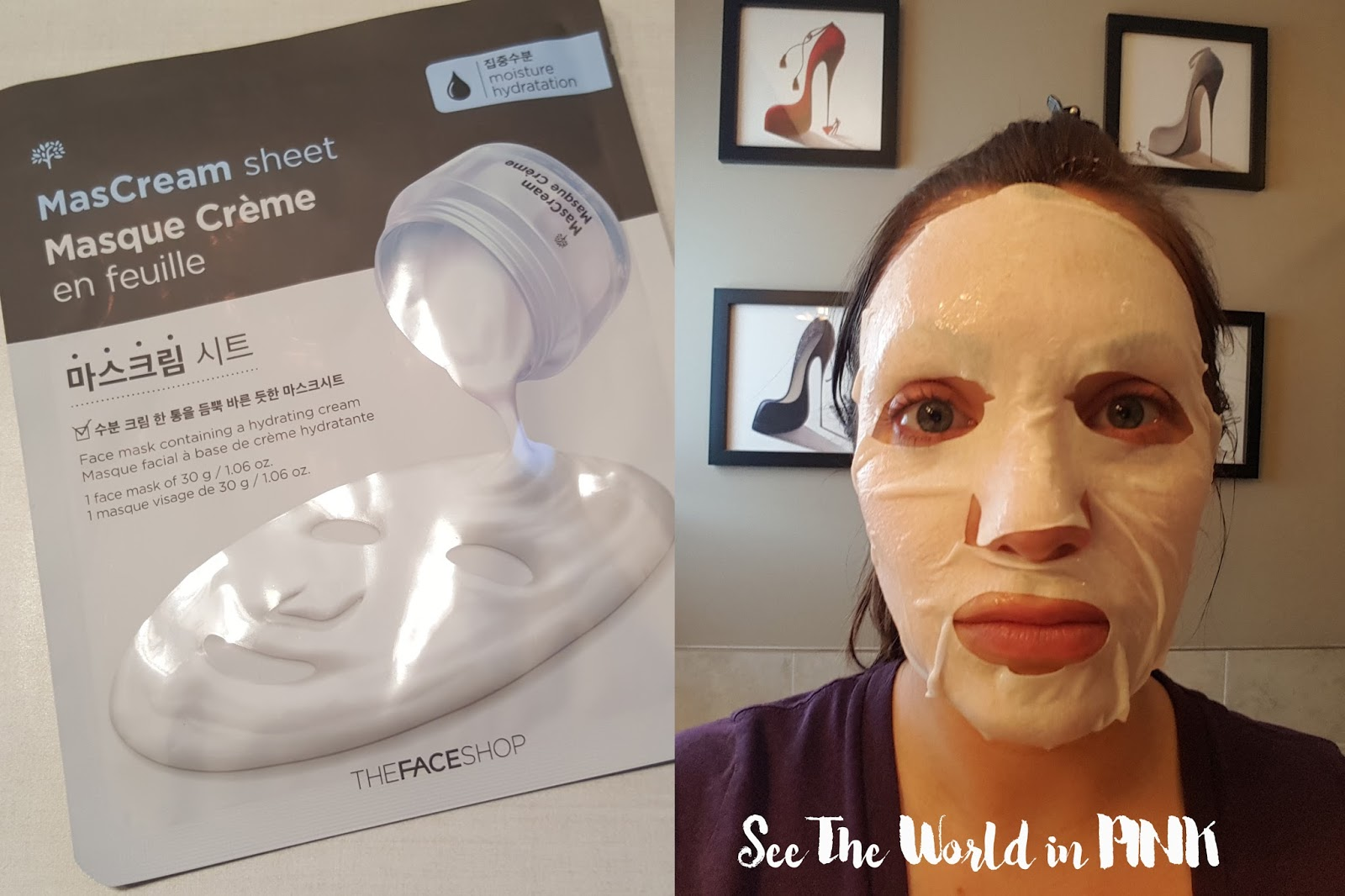 thefaceshop mascream mask sheet