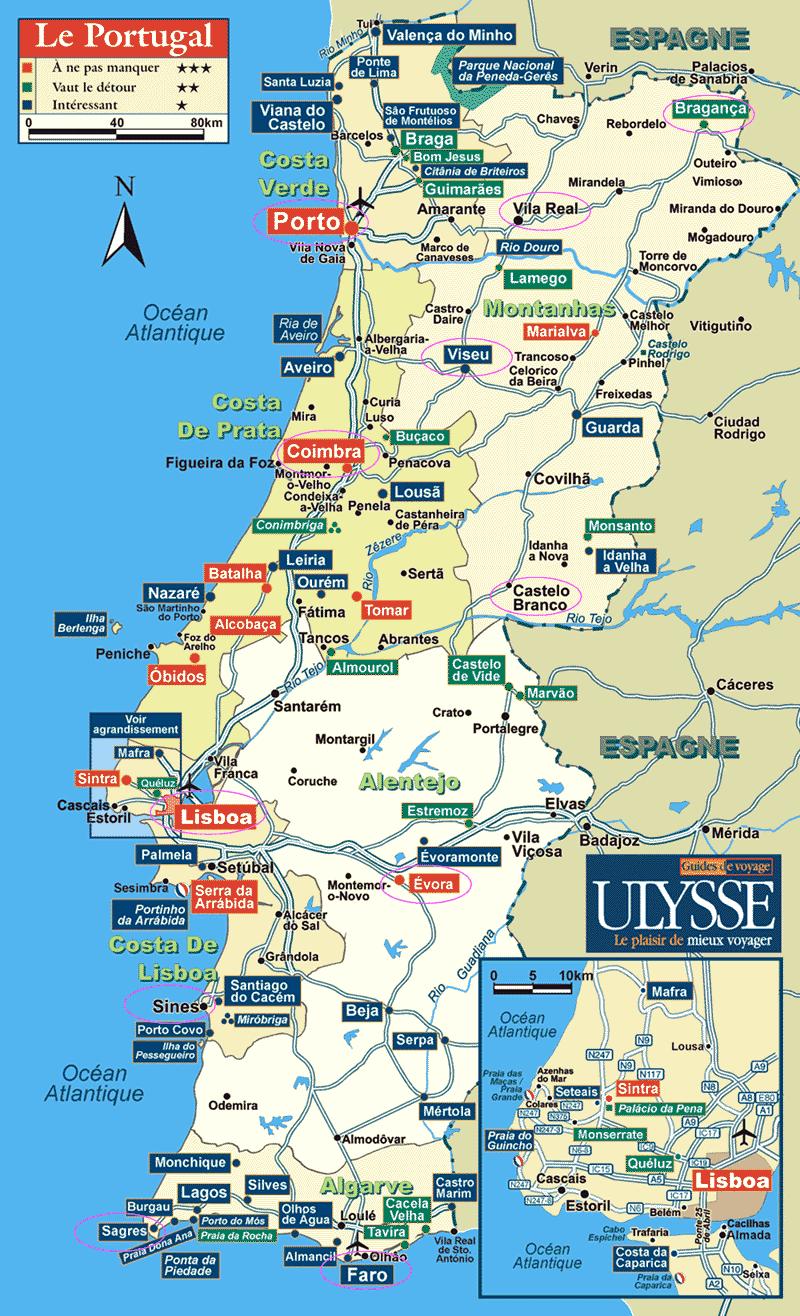 mapa completo de portugal Vinho e Delicias   Sobre vinho: Mapas de Vinhos   Portugal Geral e  mapa completo de portugal