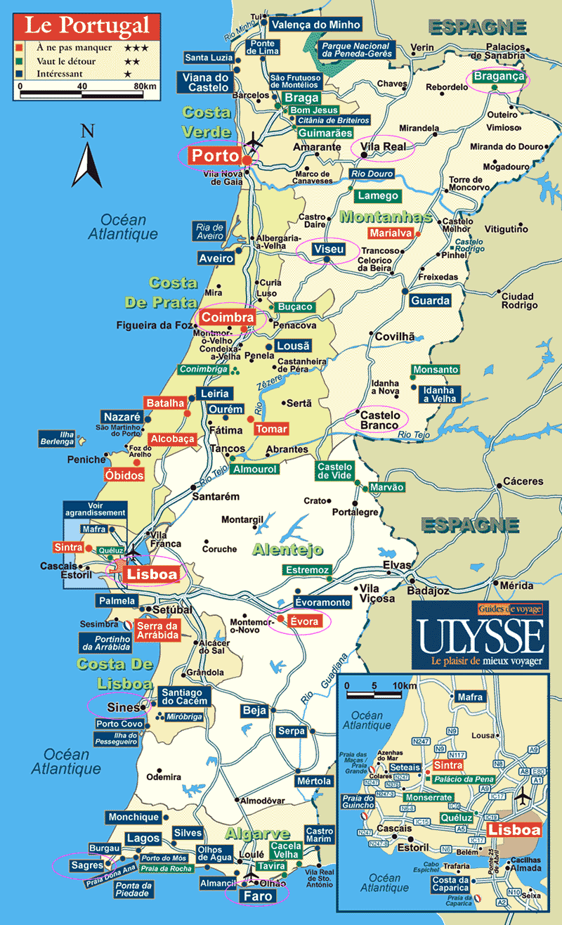 mapa de portugal completo Vinho e Delicias   Sobre vinho: Mapas de Vinhos   Portugal Geral e  mapa de portugal completo