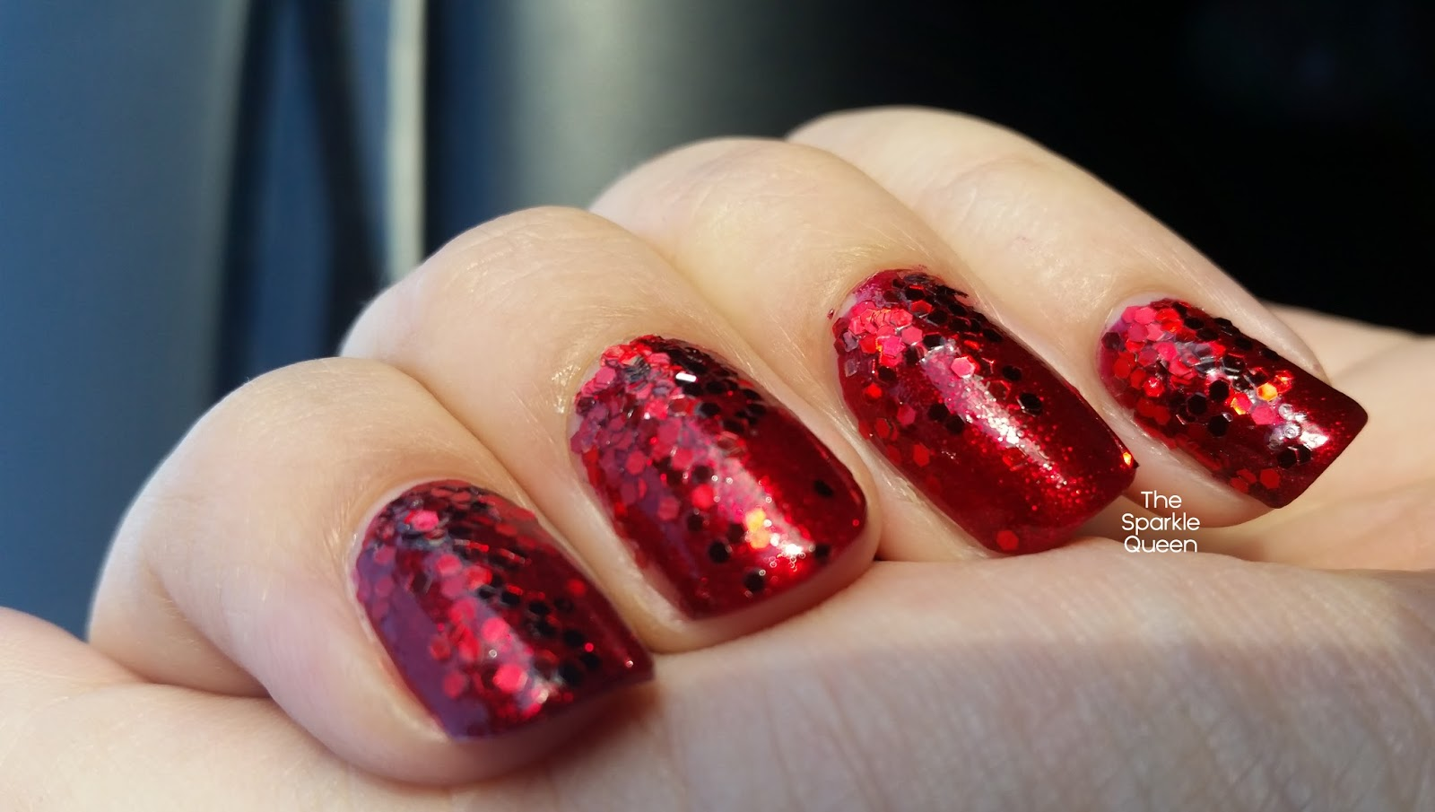 Red Glitter Gradient Nail Art A Sparkly Life For Me