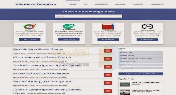 HelpDesk Theme Responsive Blogger Template - Blogger Template for Seo