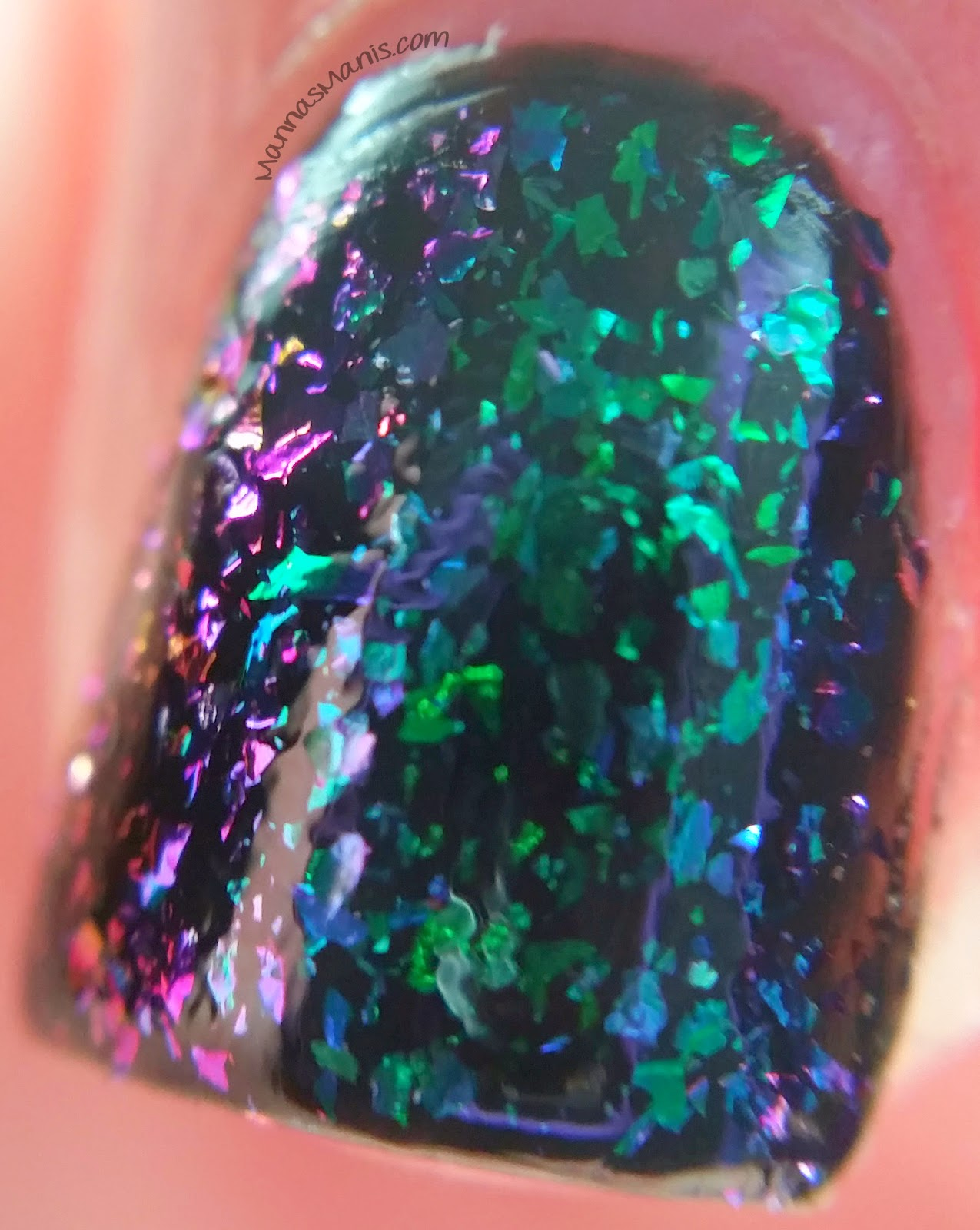 ILNP supernova, a multicolored flakie nail polish