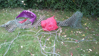 Oz Octopus, a bit of trawler net and a purple crab