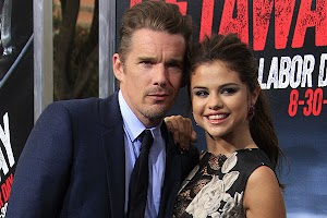 'Let's go!' Ethan Hawke and Selena Gomez at the premiere in Los Angeles