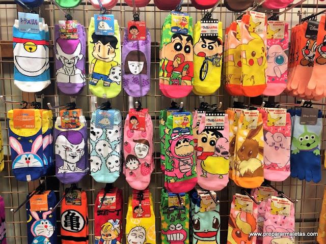 calcetines divertidos para comprar en Japón