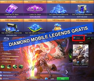 Cara Mendapatkan Diamond Gratis  Mobile Legends bang bang Dan Skin Hero Gratis