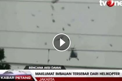 Video Polri Sebarkan Maklumat Lewat Helikopter Peringatkan Aksi 2 Desember