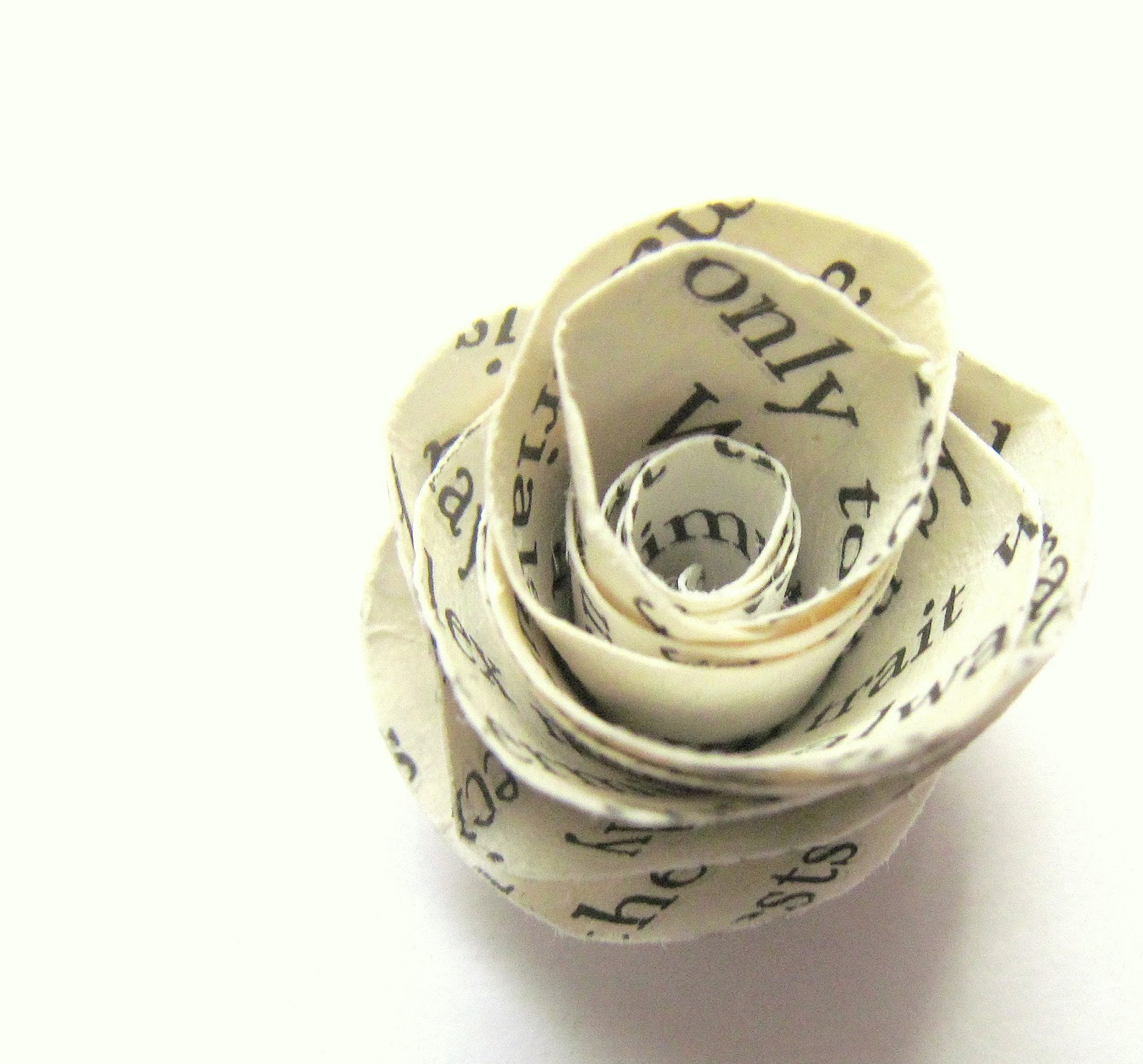 upcycled paper rose