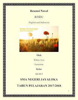 Contoh Resensi Novel Rindu Karya Darwis Tere Liye Bahasa Inggris dan Indonesia