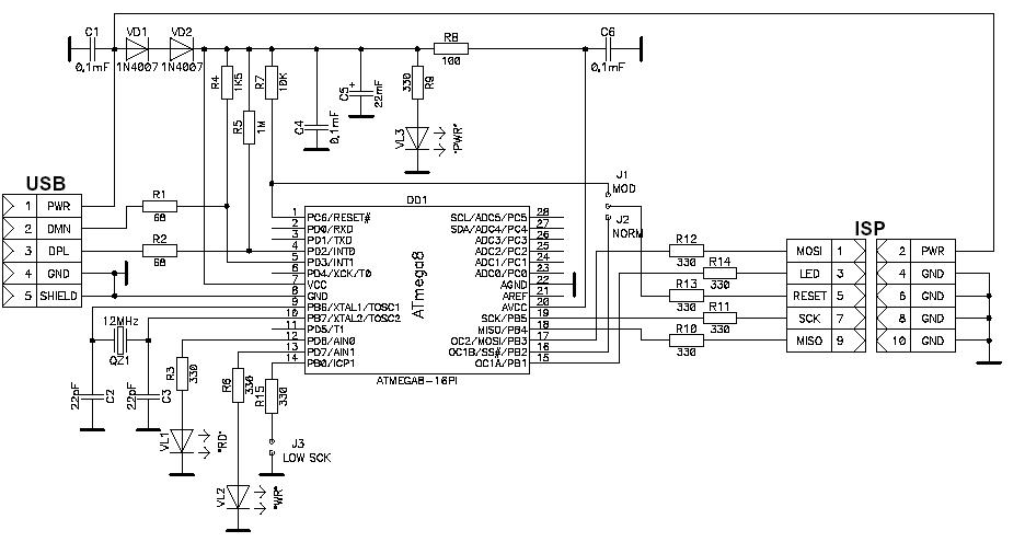 microcontroller home projects  avr910  usbasp  avr