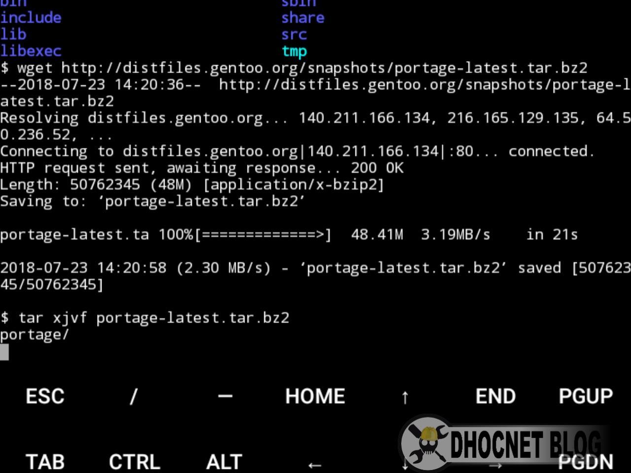 Panduan Instalasi Gentoo Linux di Android Tanpa Rooting